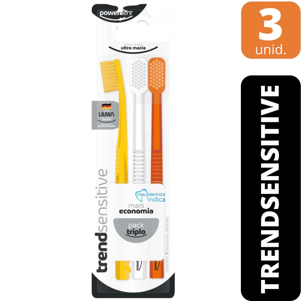 Escova Dental Trend Sensitive - 6240 cerdas - 3 unid