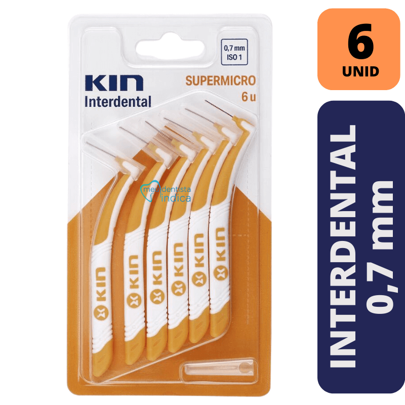 Escova Interdental KIN - SUPERMICRO 0,7 MM - 6 unidades