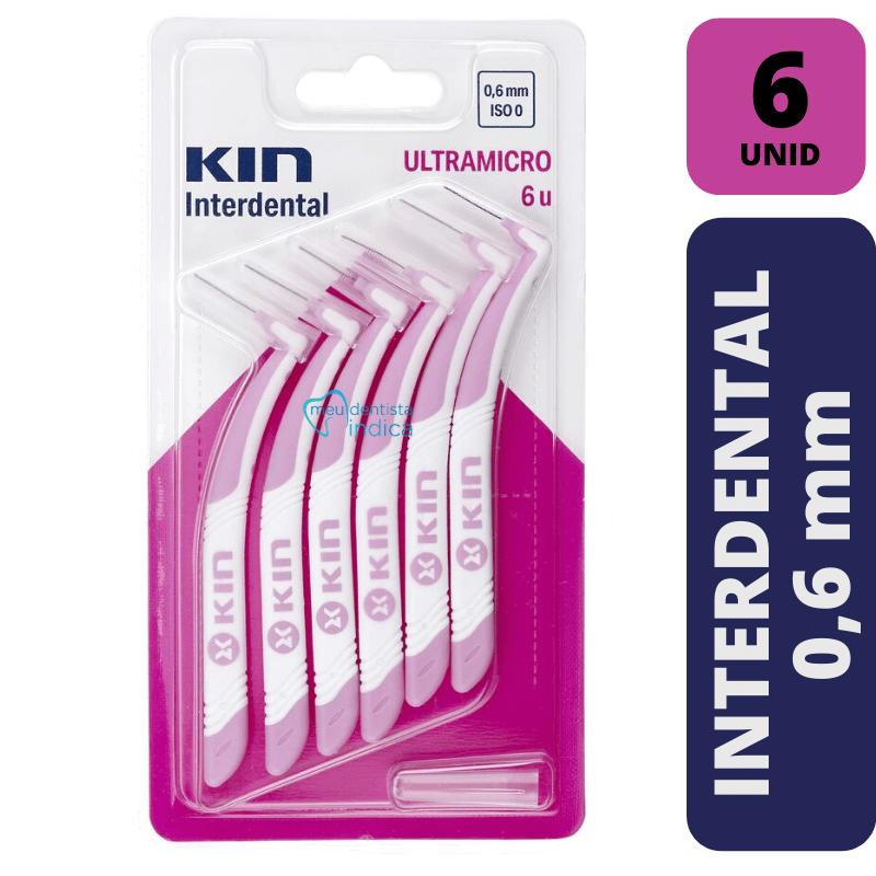 Escova Interdental KIN - ULTRAMICRO 0,6 MM - 6 unidades
