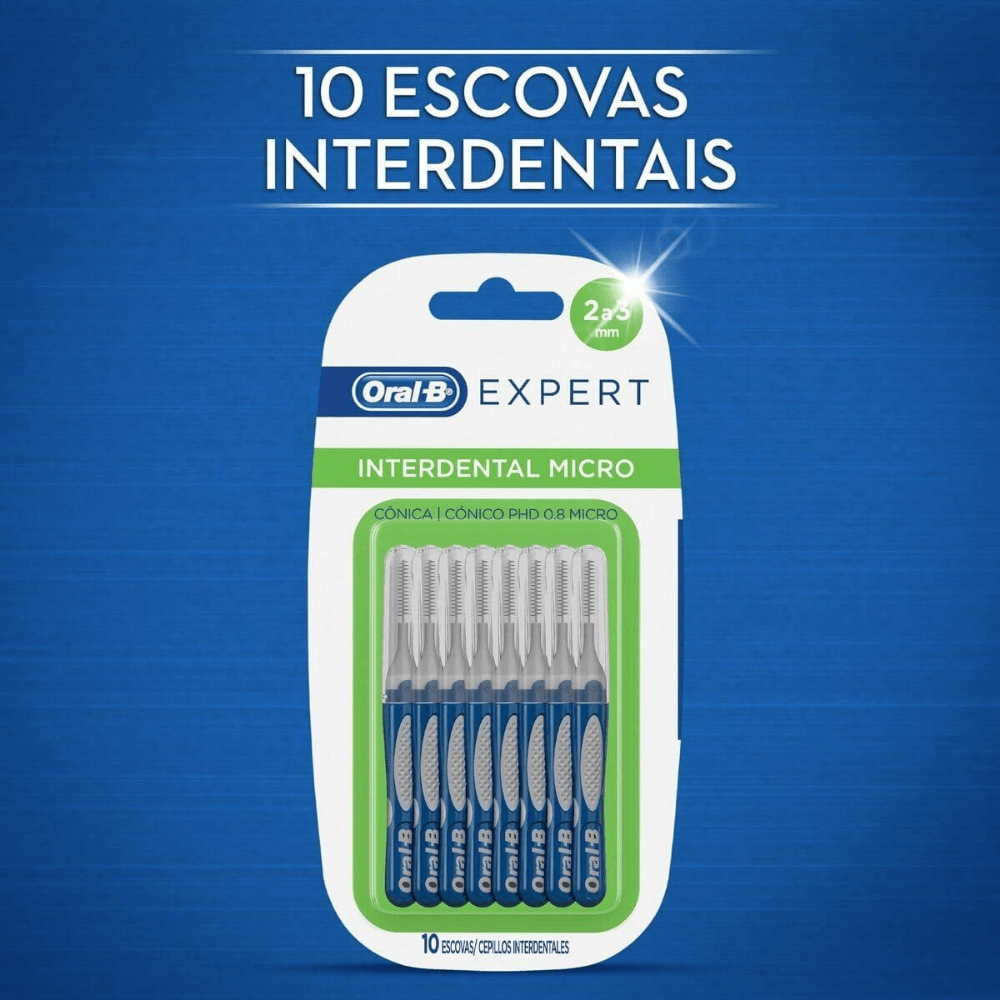 Escova Interdental Mini Oral-B Expert (Cônica 3 a 4 mm) - 10 unidades