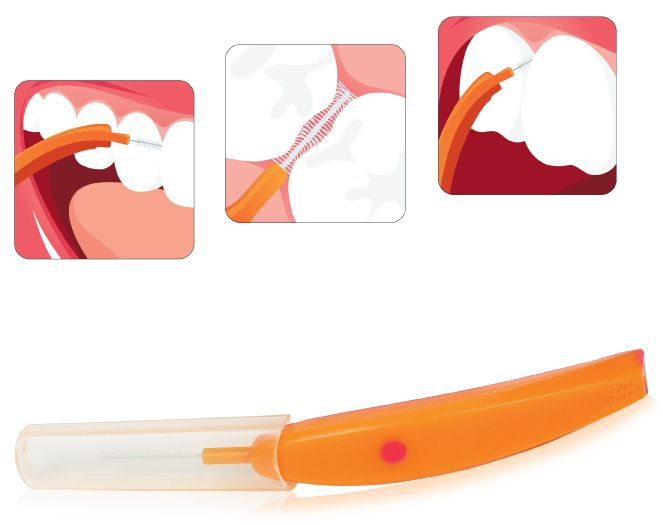 Escova Interdental Vermelha (Edel White)