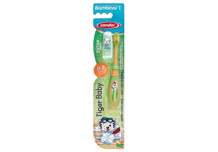 Escova de dente infantil TIGOR (0-2 anos)