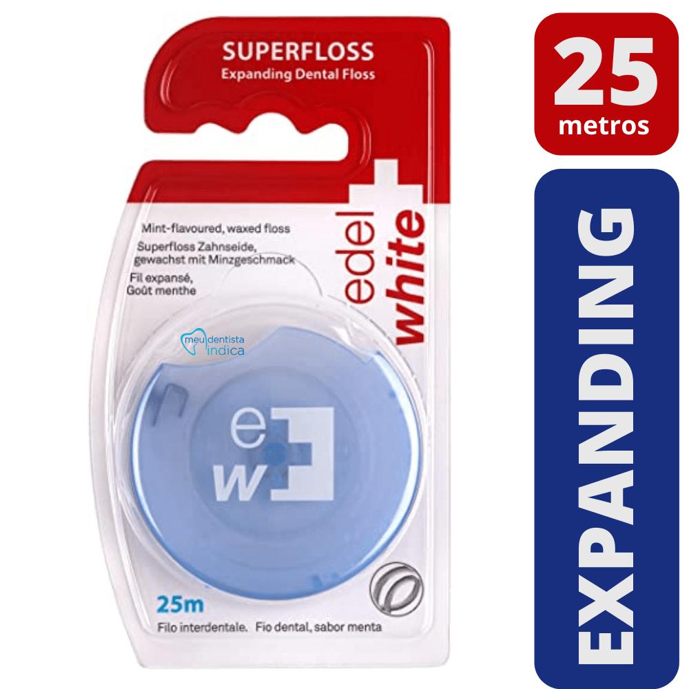 Fio Dental Expanding Floss | 25 metros | Edel White