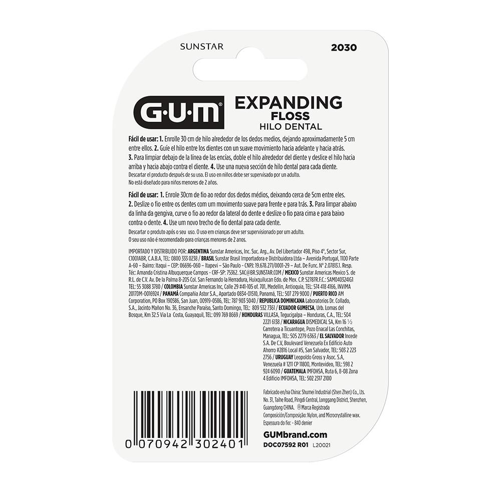 Fio Dental GUM® - Expanding Floss  40mts