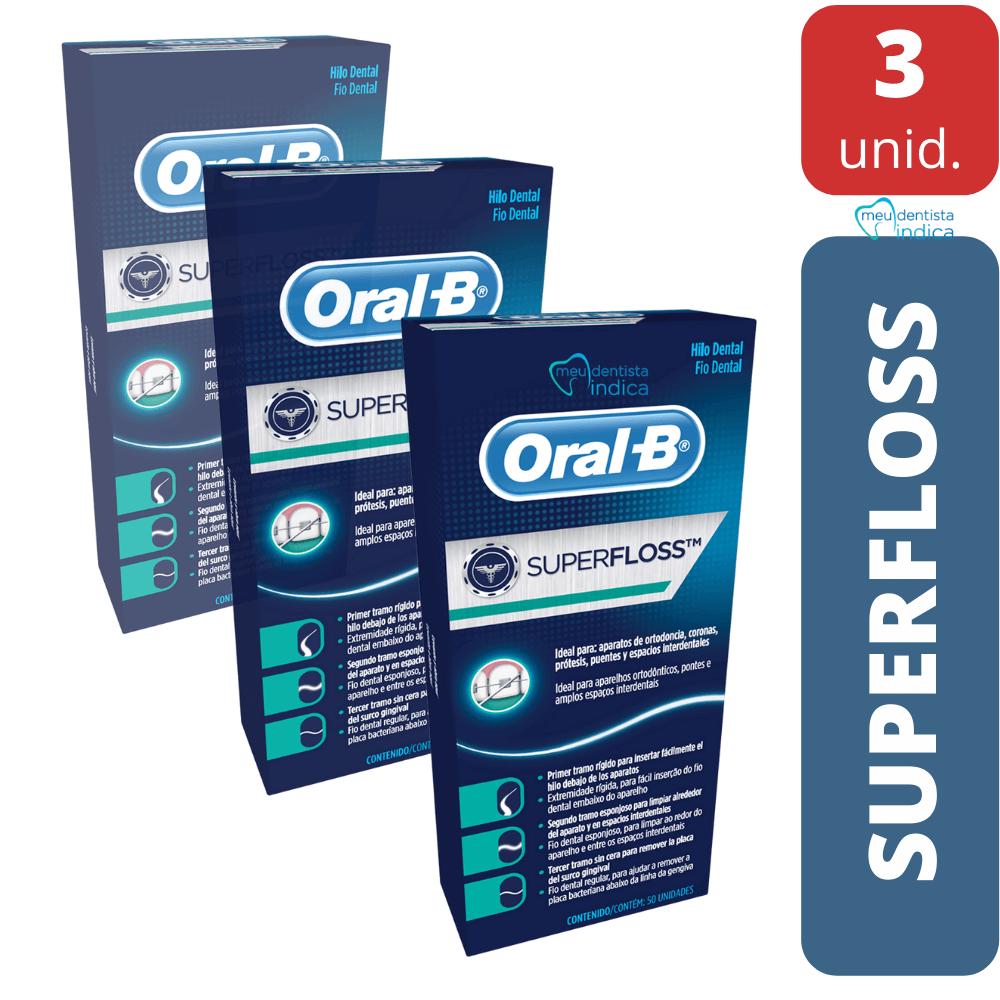 Fio Dental SuperFloss Oral B - 150 unidades
