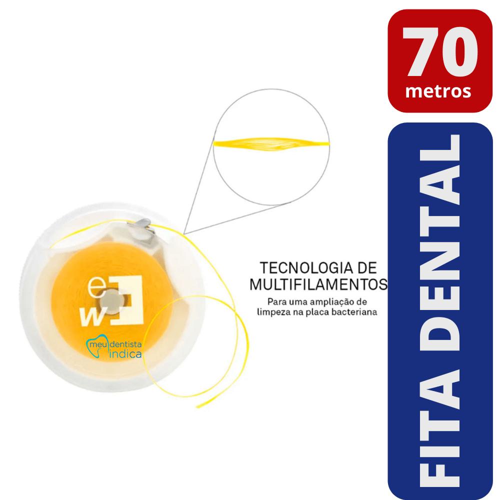 Fita Dental Sabor Limão - 70 metros (Edel White)