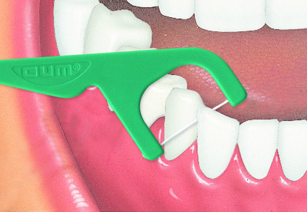 Flosser - Fio Dental com cabo (GUM) 40 unidades