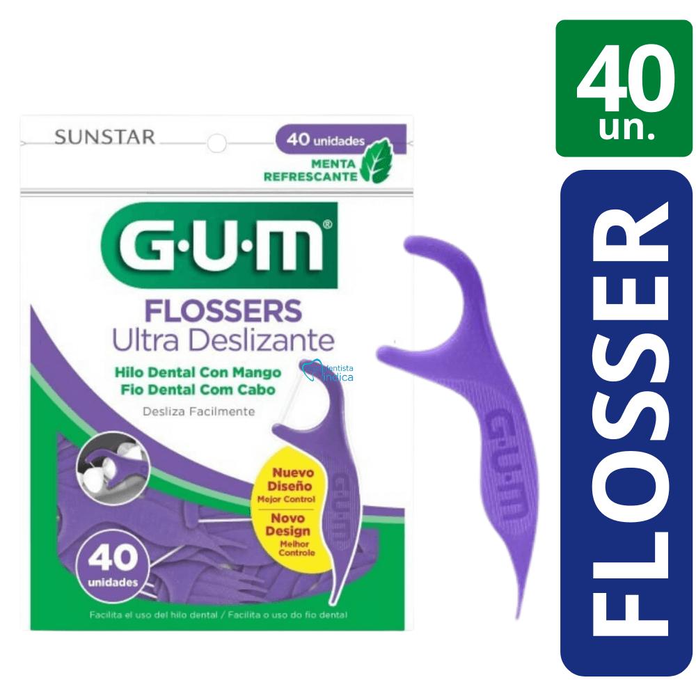 Flosser - Fita Dental com haste  40 un (GUM)