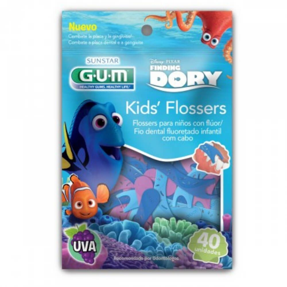 cd1798100 Flosser Infantil DORY (GUM) - Fio Dental com haste
