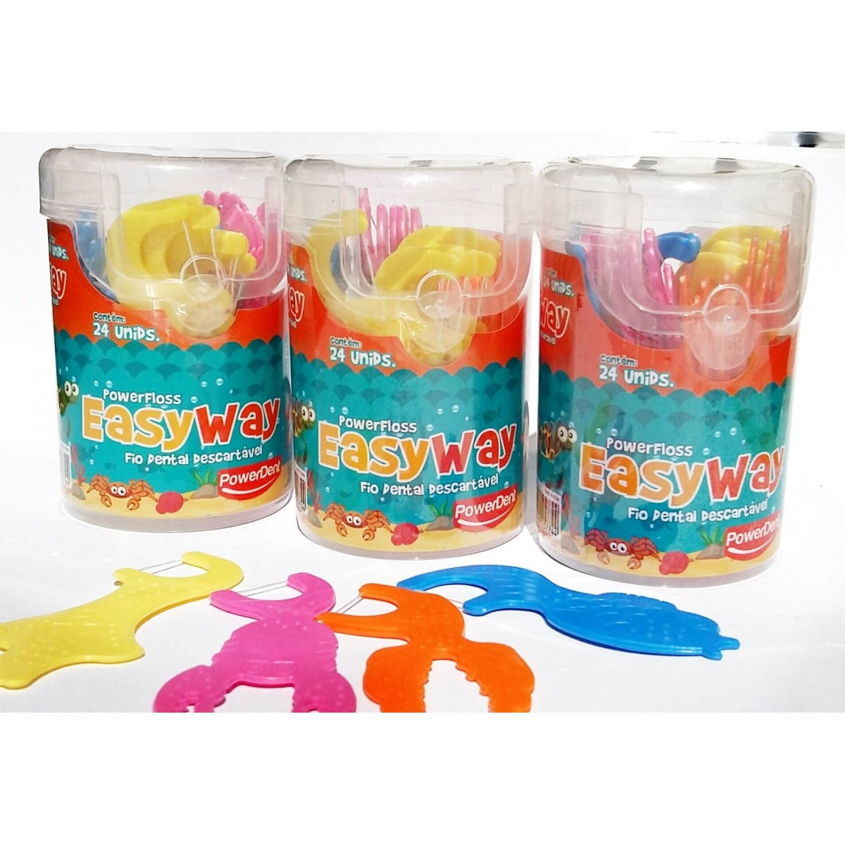 Flosser infantil Easy Way - 72 unidades