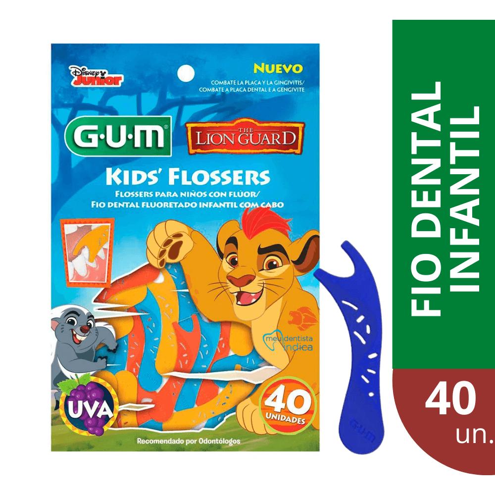 Flosser Infantil Rei Leão (GUM) - Fio Dental infantil com haste