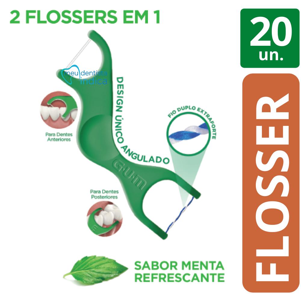 Flosser 2 em 1: Dual Technique Gum