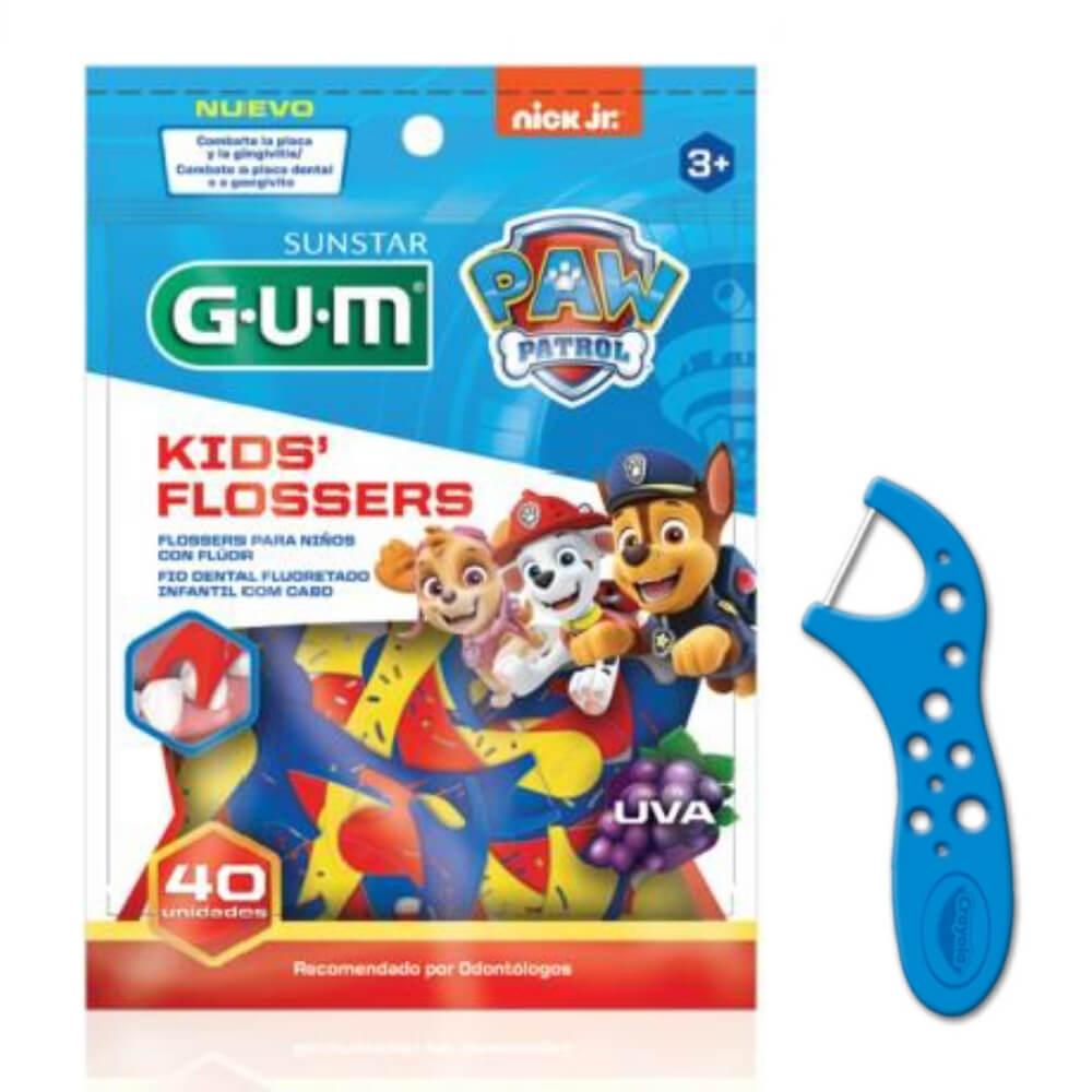 Kit Infantil Patrulha Canina GUM® |Escova c/ Luz + Gel Dental + Flosser