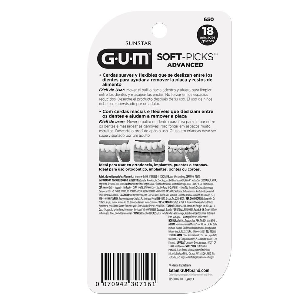 Soft-Picks Advanced GUM®   Palito Interdental   72 unidades