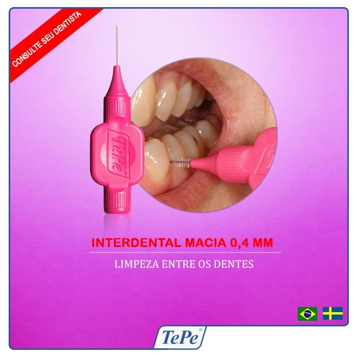Interdental Macia 0,4mm - Rosa (TEPE)