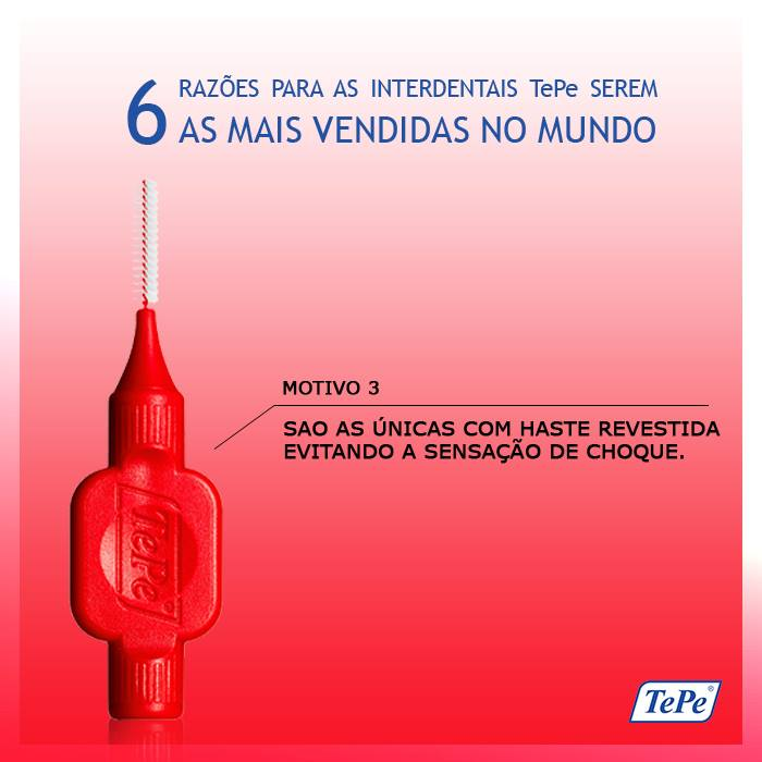 Interdental Macia 0,5mm - Vermelha (TEPE)