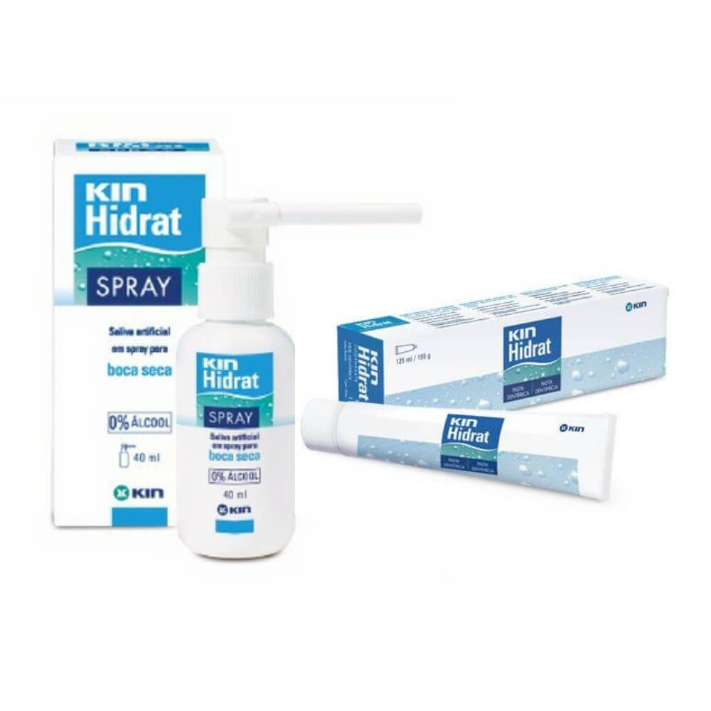 KIN HIDRAT - Spray + Creme Dental para Boca Seca