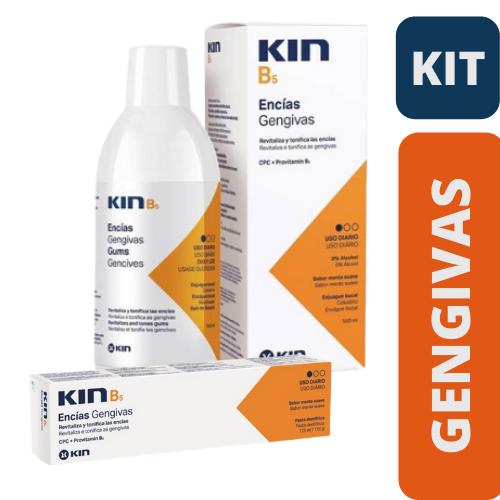 KIN - Kit B5 (Enxaguatório 500ml + Creme Dental )