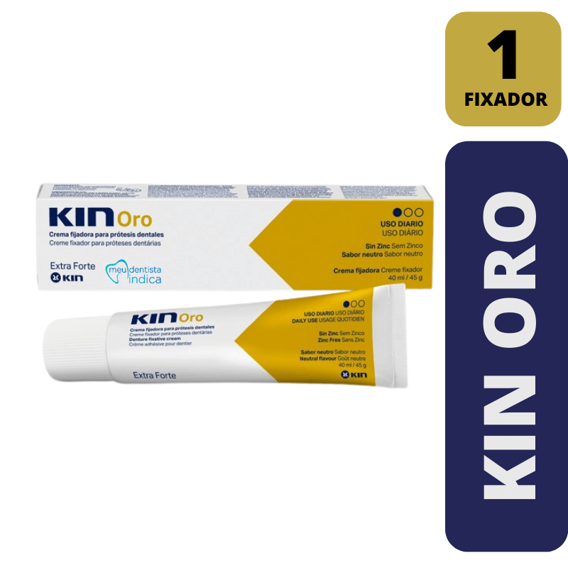 KIN ORO - Creme fixador para Dentadura