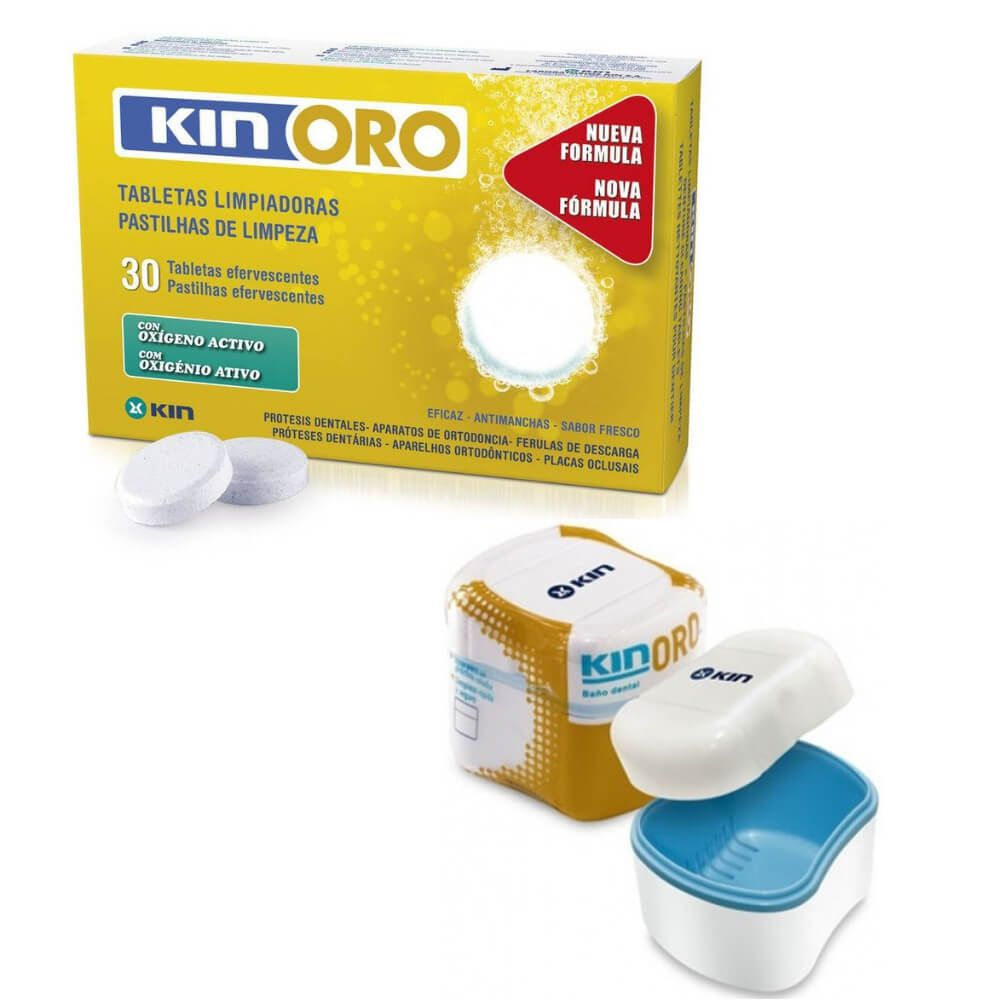 KIN ORO - Pastilha + Caixa para limpeza de Prótese