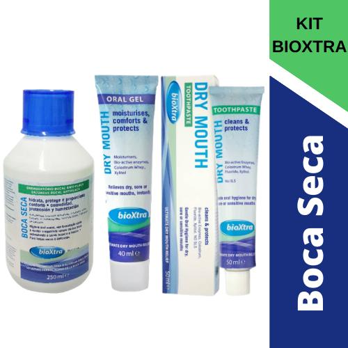 KIT BIOXTRA Para Boca Seca:gel +creme dental+ enxaguatório