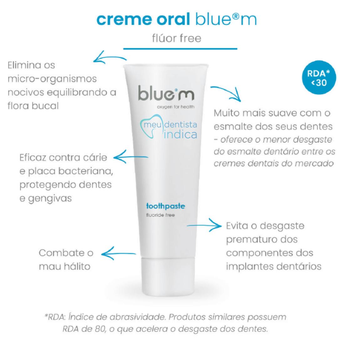 Kit Blue M: Creme dental + Enxaguatório
