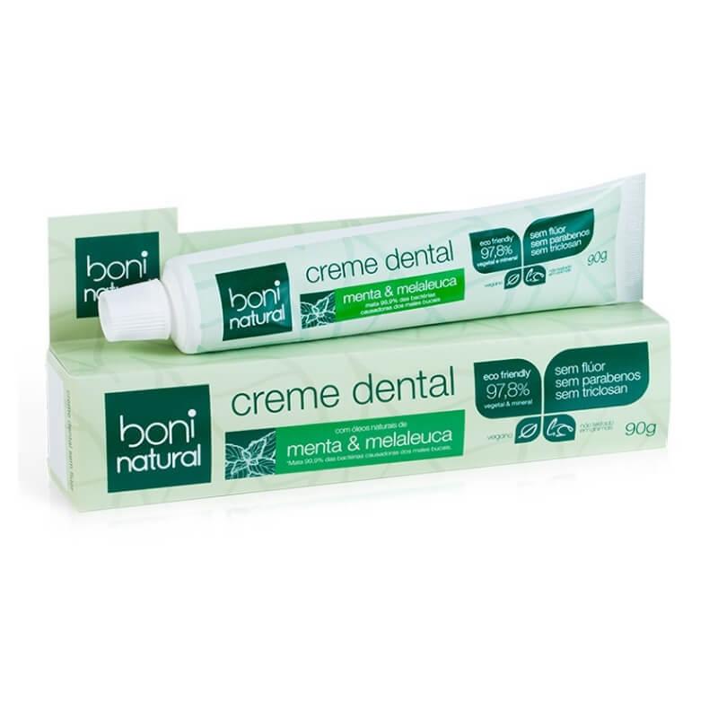 Kit Boni Natural - 4 Cremes Dentais (90g) Natural Sem Flúor