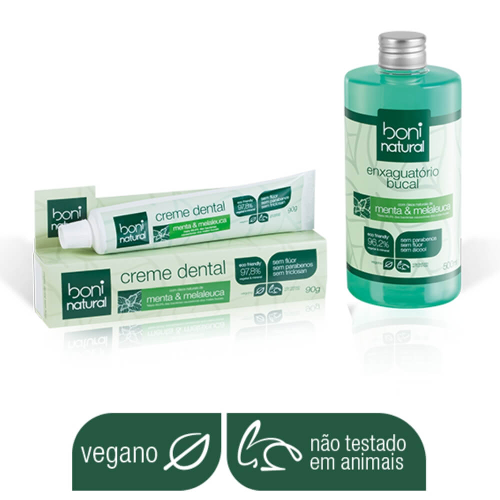 Kit Boni Natural (enxaguatório + creme dental) - Vegano