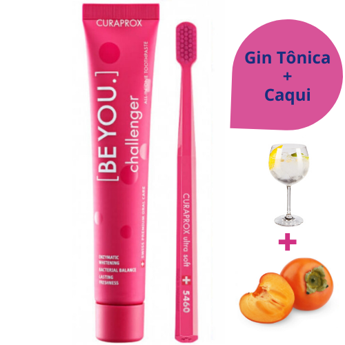 Creme Dental BE YOU Gin Tônica e Caqui + Escova Curaprox