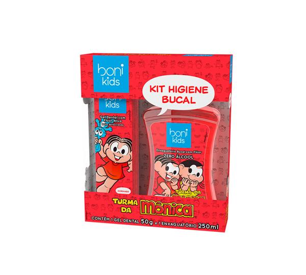 KIt de higiene bucal Turma da Mônica ( BONI)