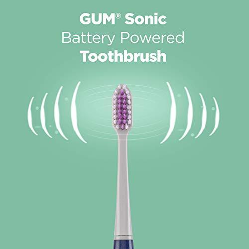 Kit Escova Dental Sonic Deep Clean | GUM® | Vibração Sônica | 1 Escova + 3 Refis