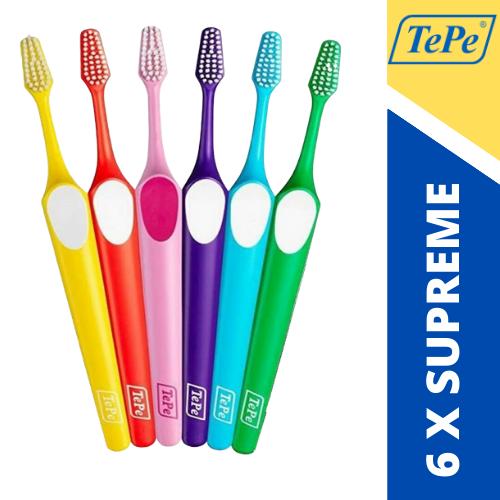 Kit Escova Dental Supreme Soft (TePe) 6 unidades