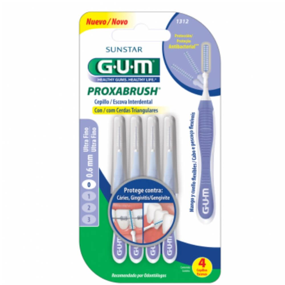 KIT Escova Interdental Ultra fina GUM - 12 unidades