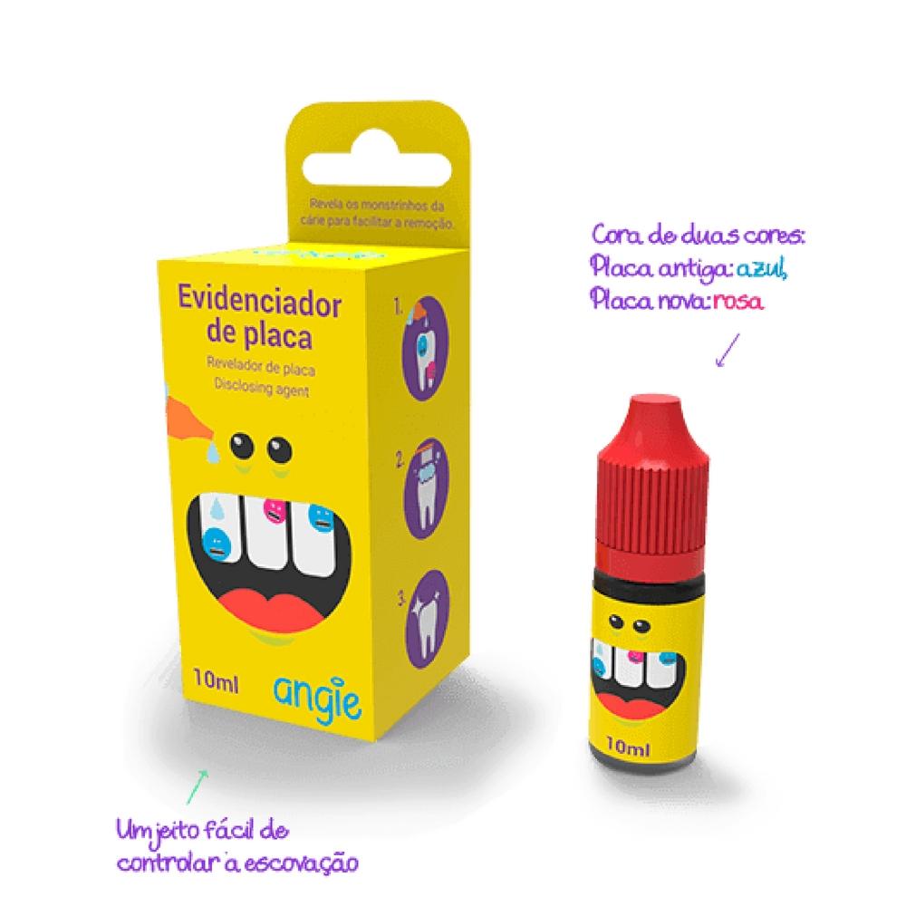 Kit Evidenciador de Placa Bacteriana + pinceis aplicadores