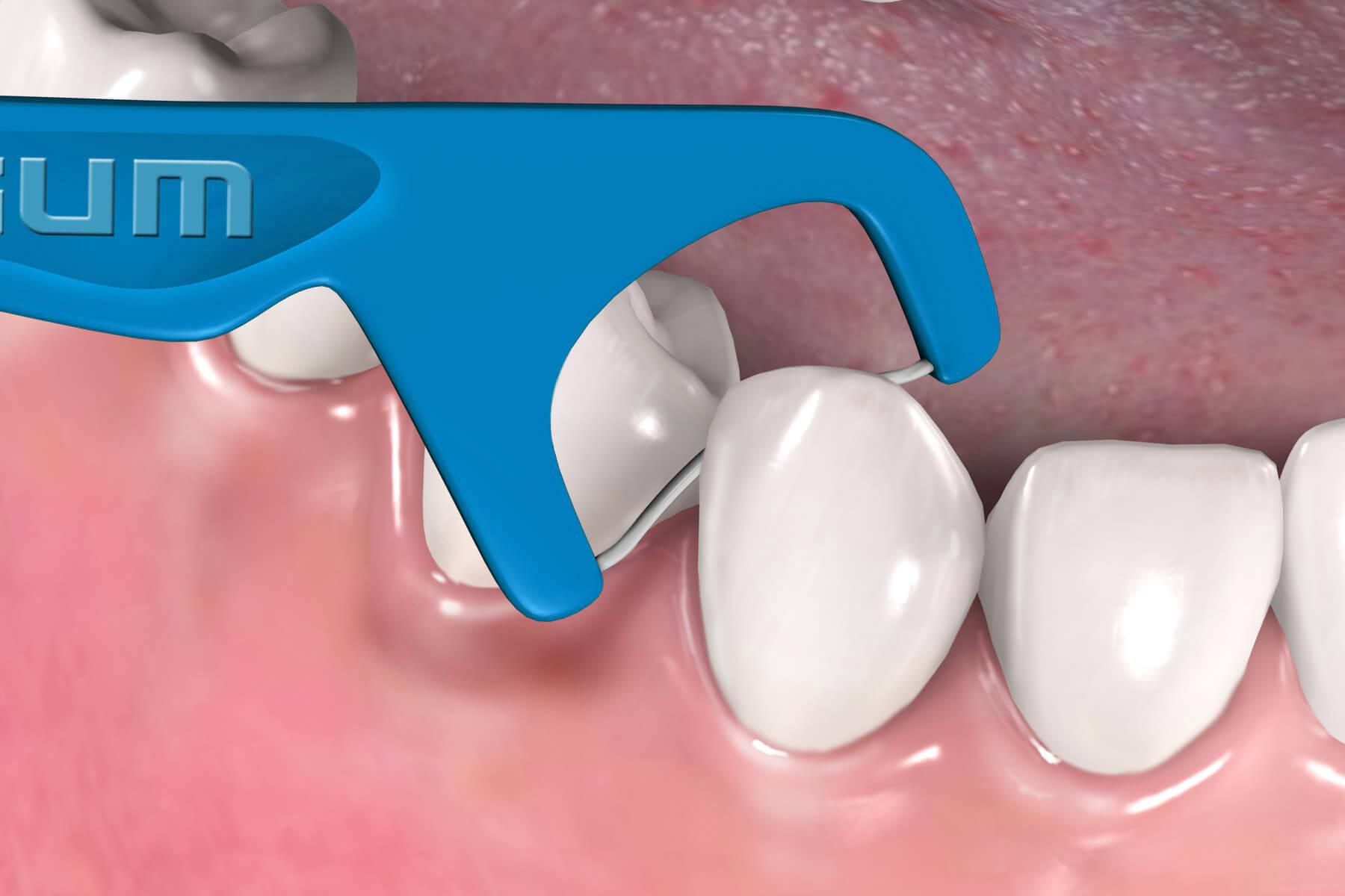 KIT GUM Higiene Oral Adulto: Sensitive + Flosser