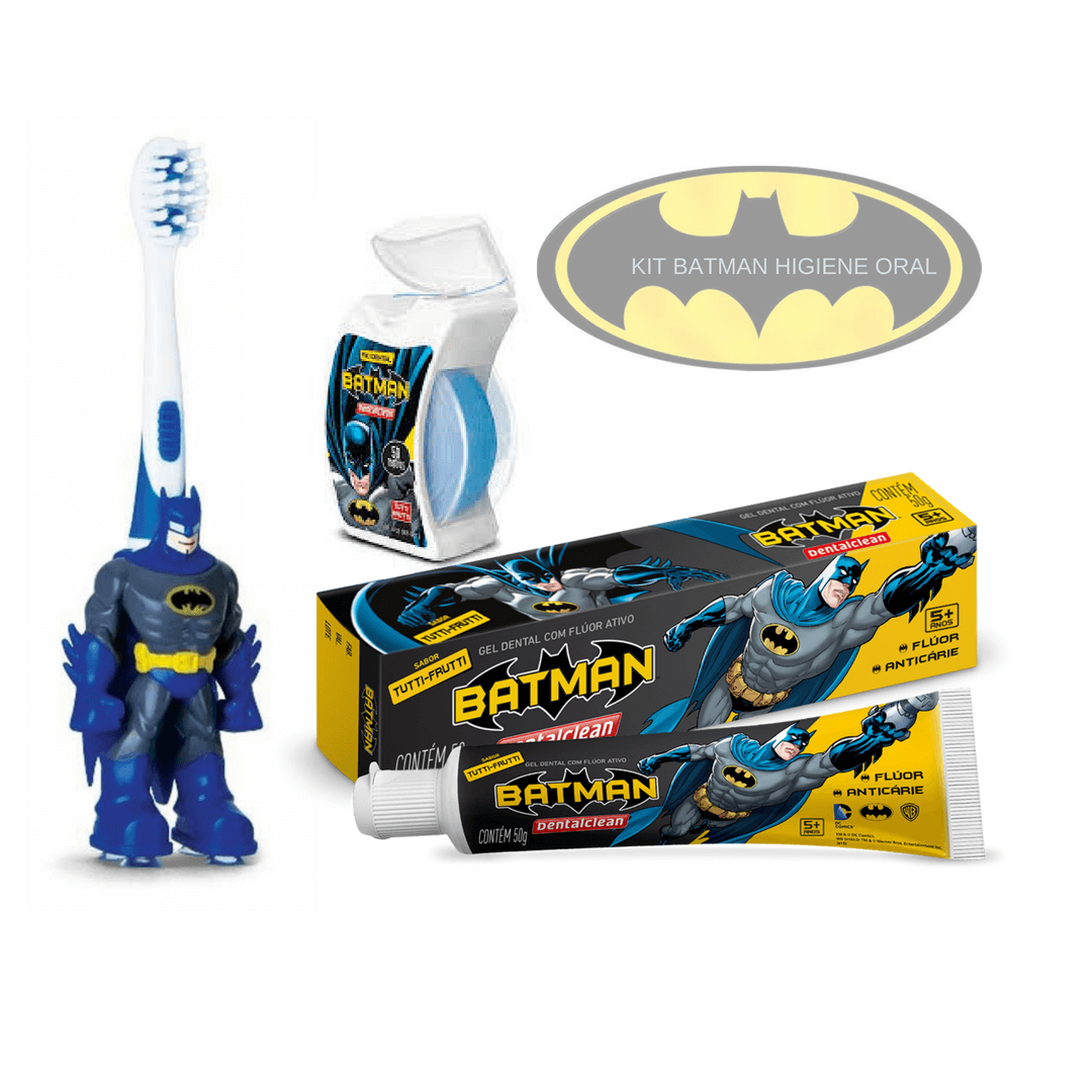 Kit Higiene Oral Infantil - Batman