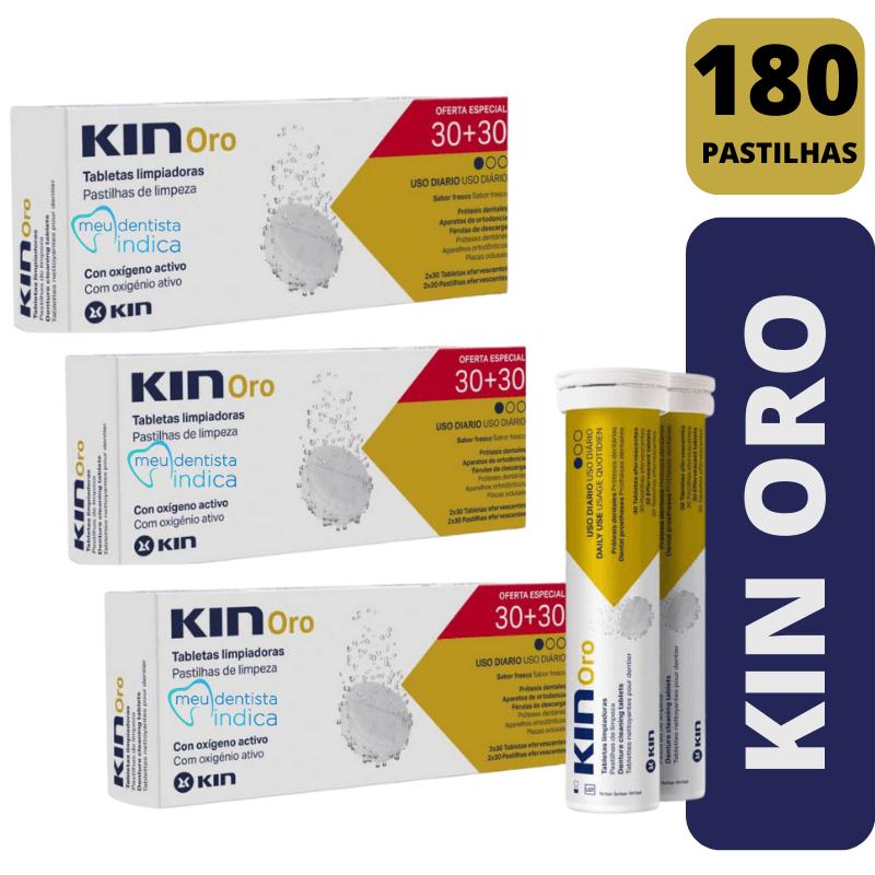 KIT Pastilha de Limpeza Kin Oro - 180 unidades
