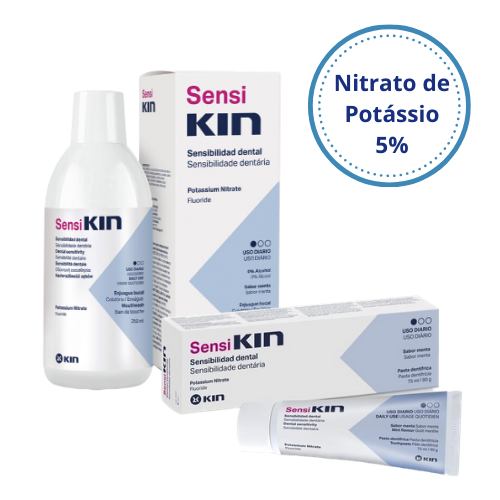 KIT SensiKIN (Enxaguatório 500ml + Creme Dental 90g)