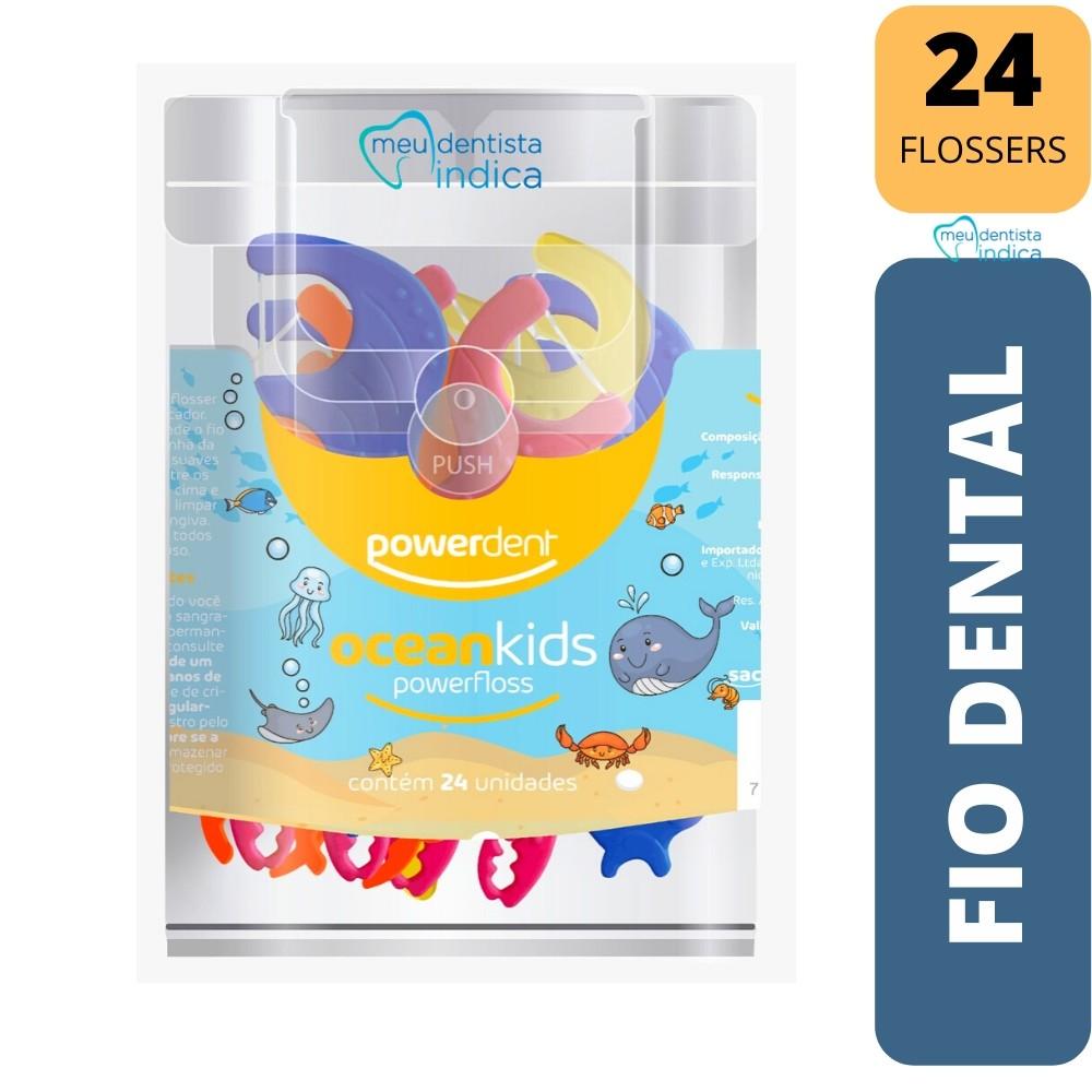 Escova Elétrica Infantil Coelho +  2 Refil + Fio Dental com Cabo