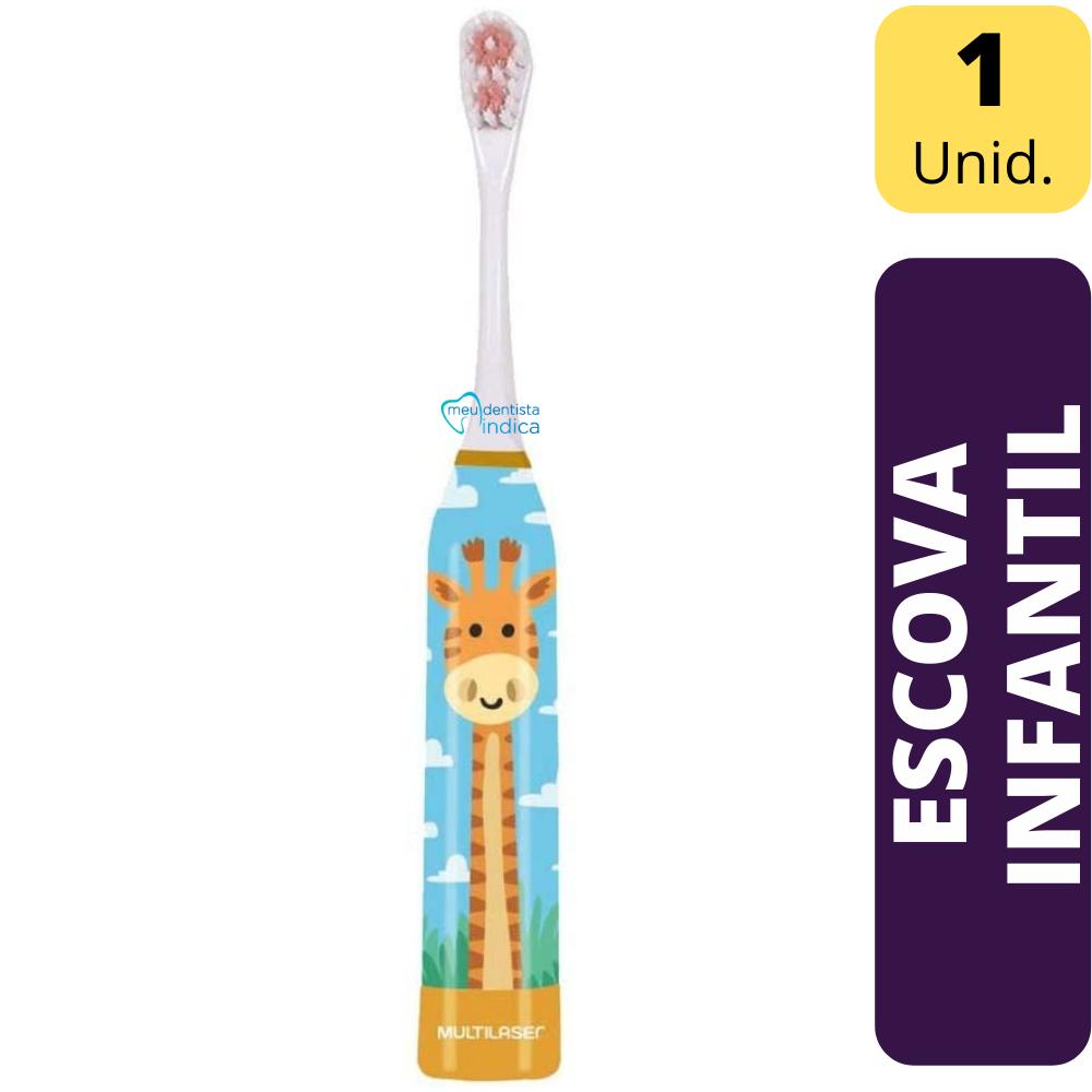 Escova Elétrica Infantil Girafa +  2 Refil