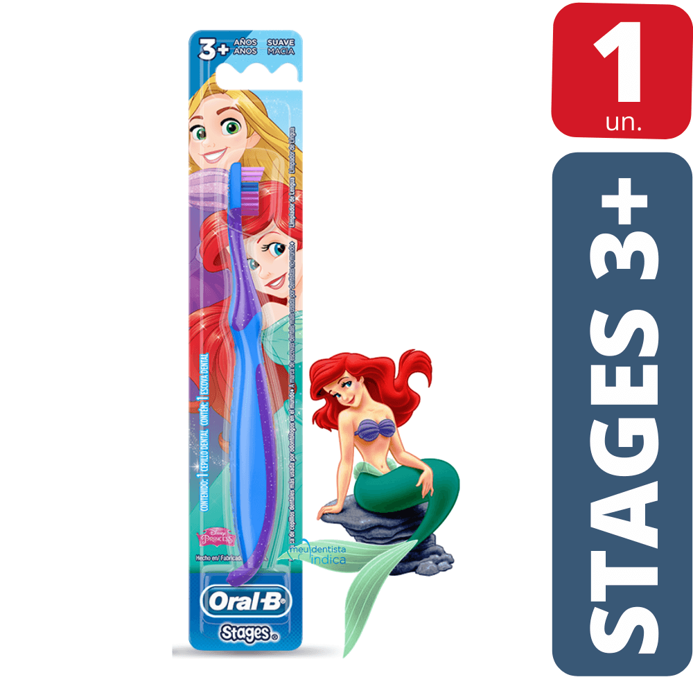Escova Dental Infantil OralB Stages 3+ Princesas