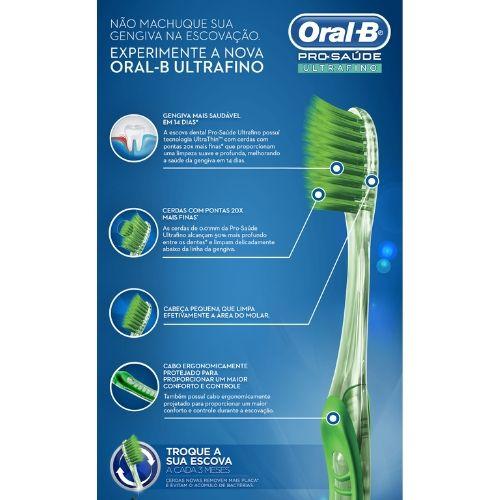 ORAL B - KIT Escova Dental Pro-Saúde UltraFino (5 Unidades)