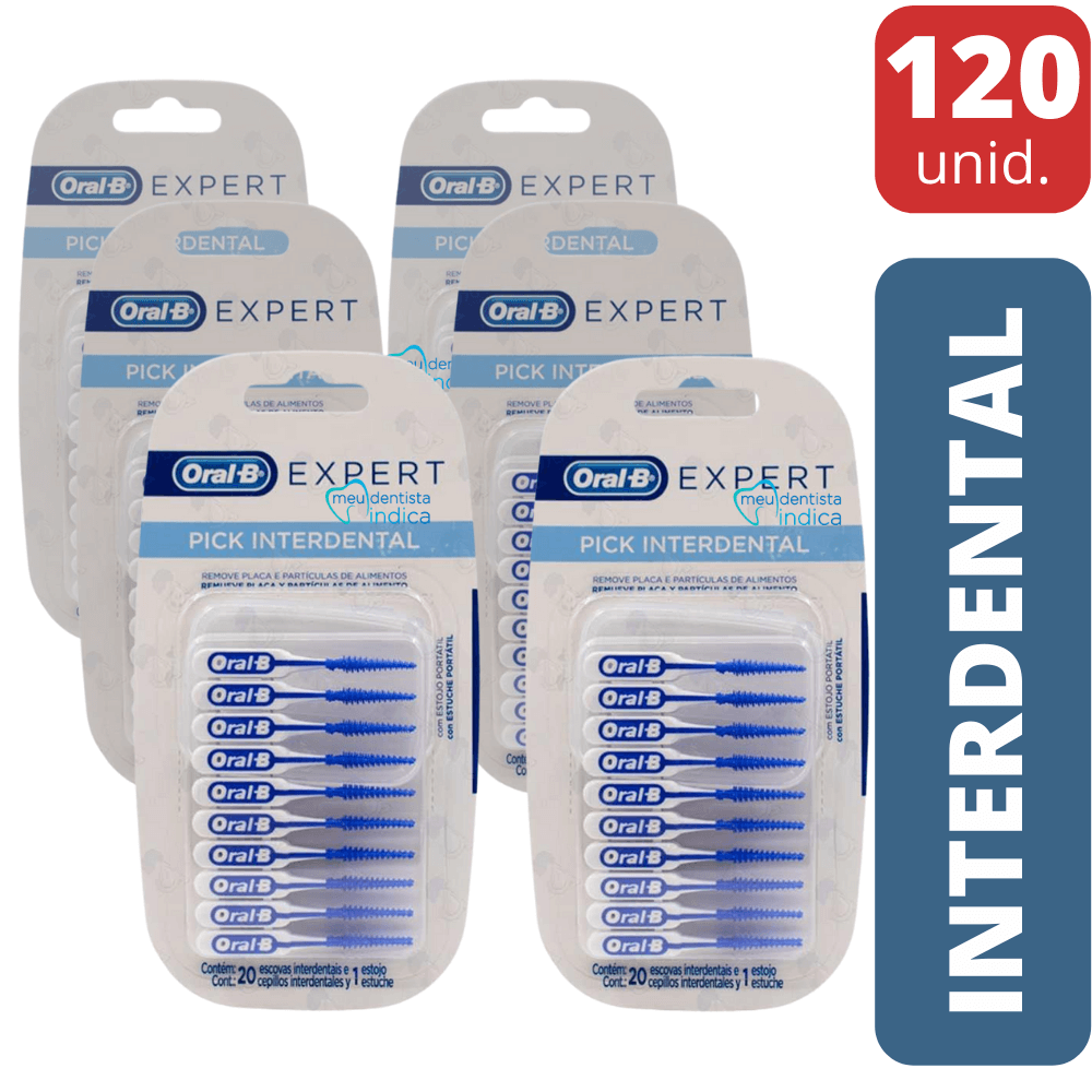 ORAL B - Pick Interdental Expert - 120 unidades ( 6 Cartelas)