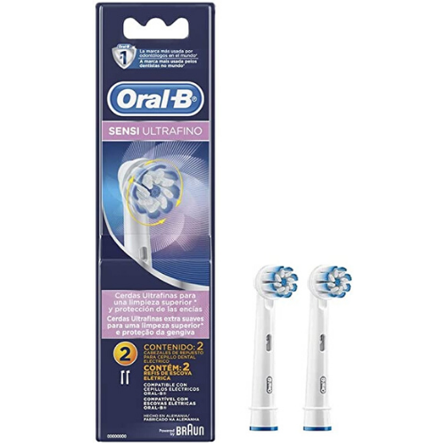Refil Escova Dental Elétrica Oral B - Sensi Ultrafino (2 unidades)