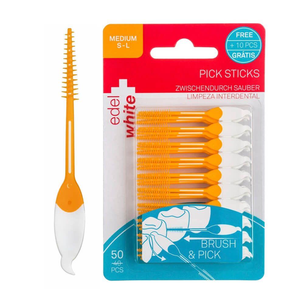 Picks Sticks Médio - Edel White - 50 unidades