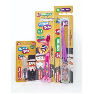 Kit Higiene Oral Bebês Mundo Bita com mochila
