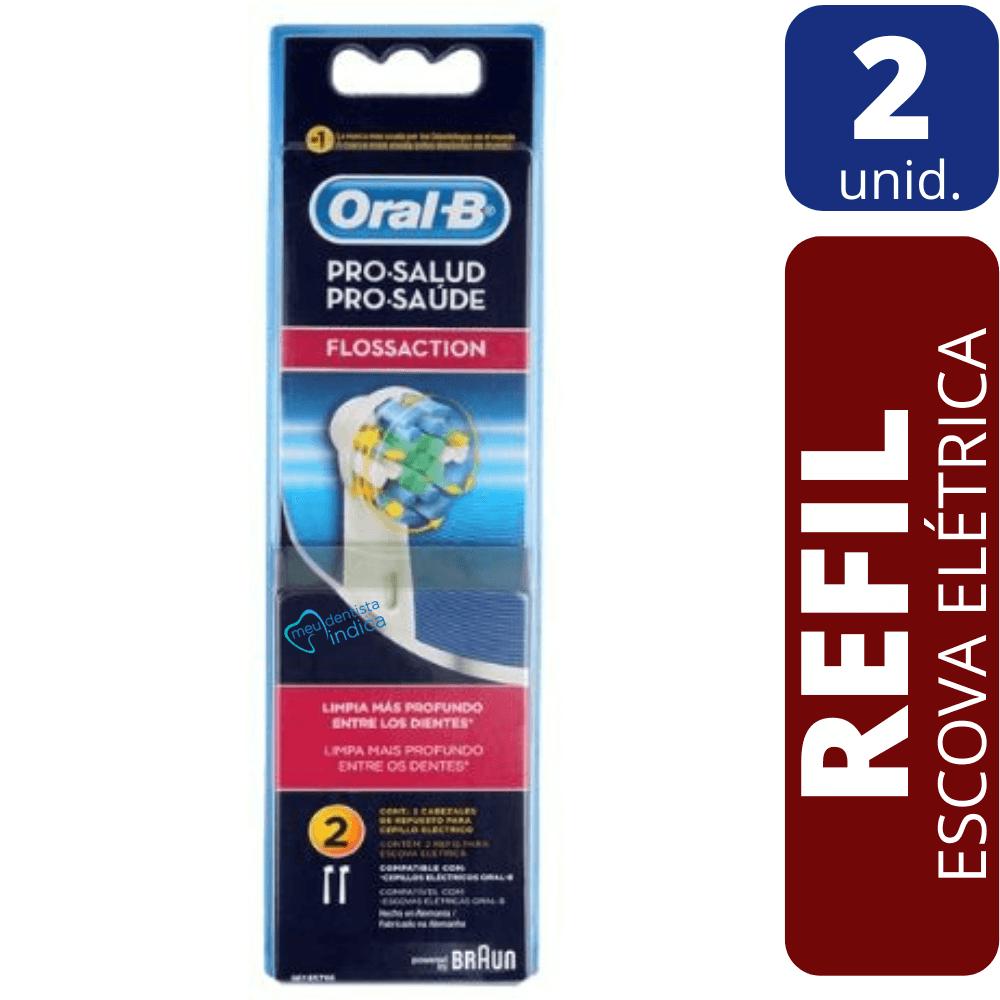Refil Escova Dental Elétrica Oral B - FlossAction 2 unidades