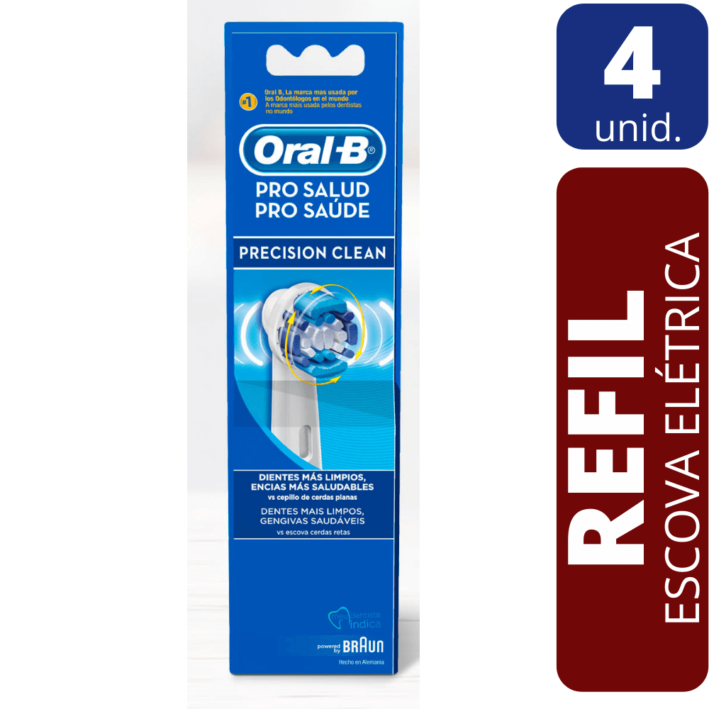 Refil Escova Dental Elétrica Oral B - Precision Clean 4 unidades