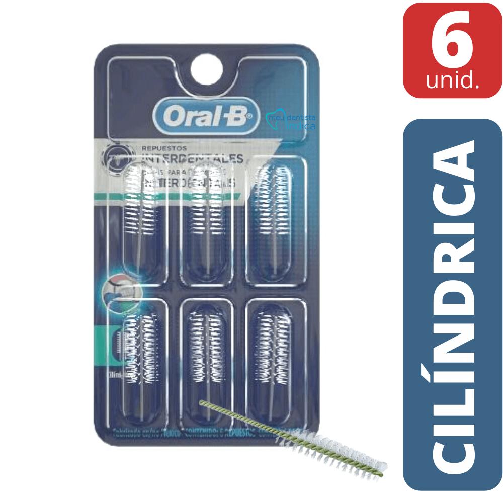 Refil Escova Interdental CILÍNDRICA Oral B - 6 unidades