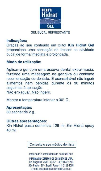 Saliva Artificial - KIN Hidrat Gel em Sachês